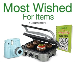 The most wished for items on Amazon