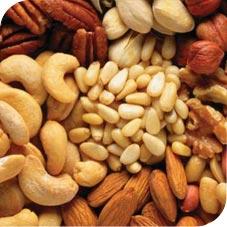 Nueces en la alimentación paleo
