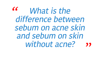 Difference between acne and non-acne skin